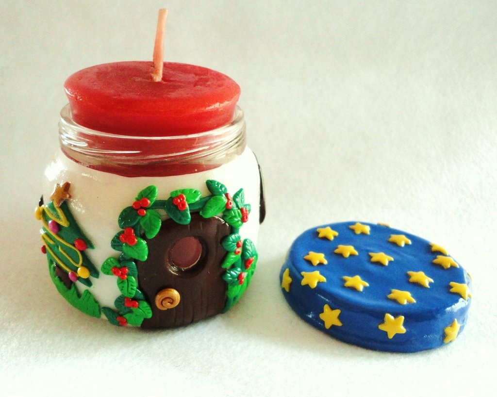 portacandela natalizio