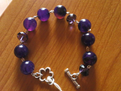 Purple drops -  Bracciale