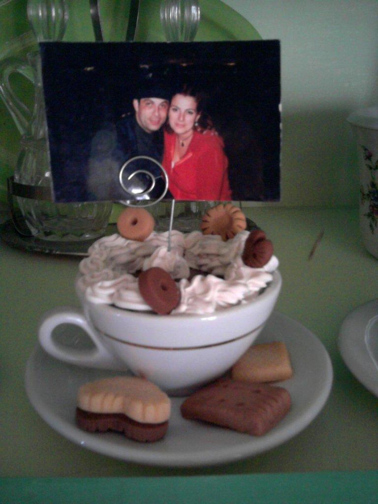 caffe' con panna porta foto