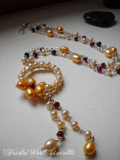 Collana Fiore di Perle Spedizioni gratuite