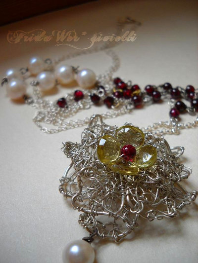 Sautoir Flower Citrine