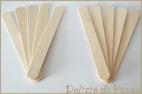 10 spatole di legno