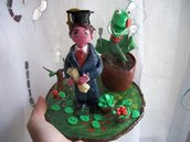 Cake topper o idea regalo laurea in Agraria