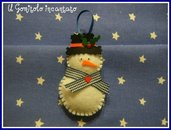 Natale: Pupazzo di neve in pannolenci.