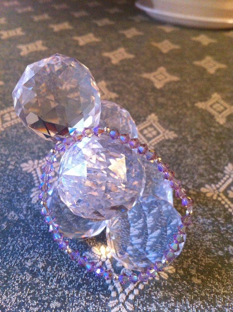 bracciale viola crystal