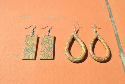 polymer clay ethnic earring