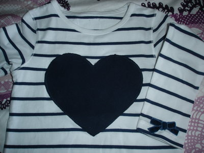 Maglietta cuore blu