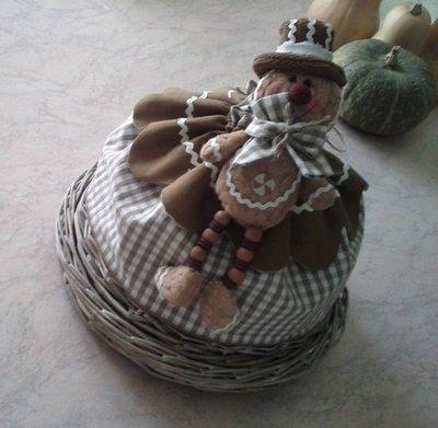Porta pane/biscotti ginger bread beige