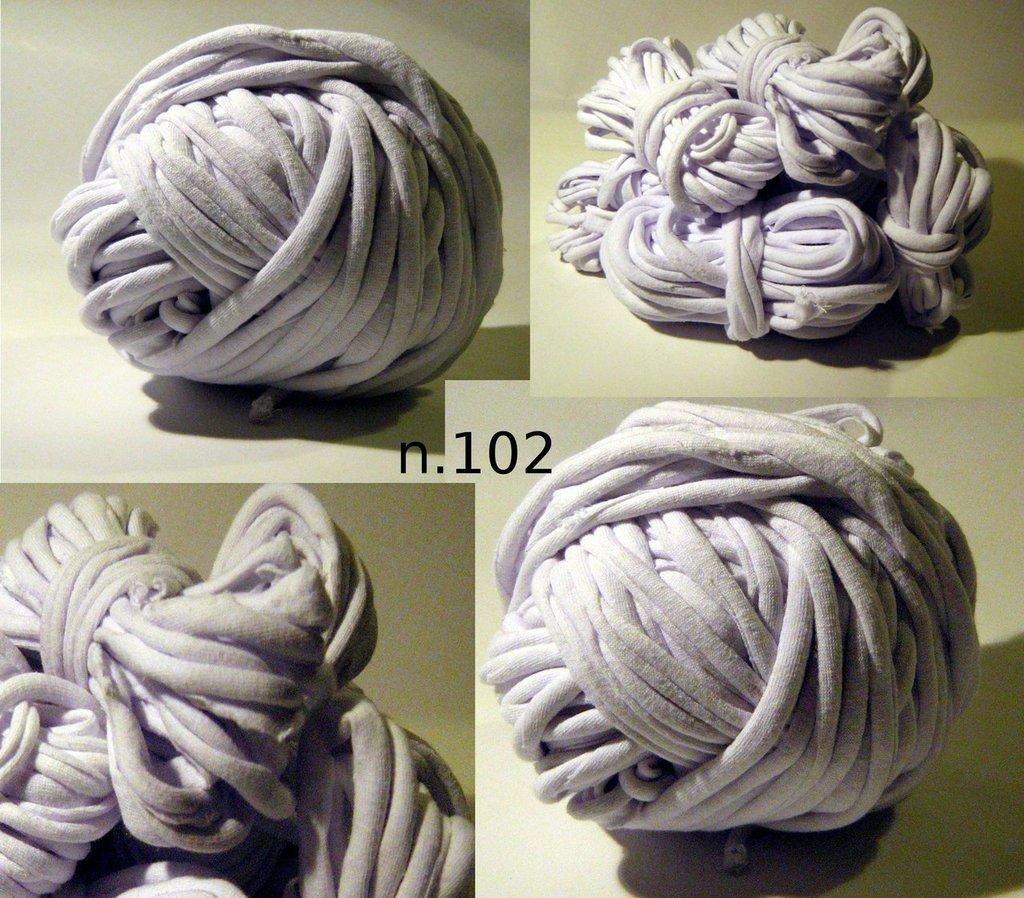19.4mt Filato di Jersey bianco n.102
