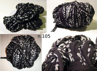 Filato di Jersey macchie nero n.105 - 11.3mt