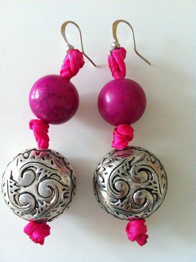 orecchini nastro rosa