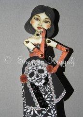 Dia de los muertos paper doll