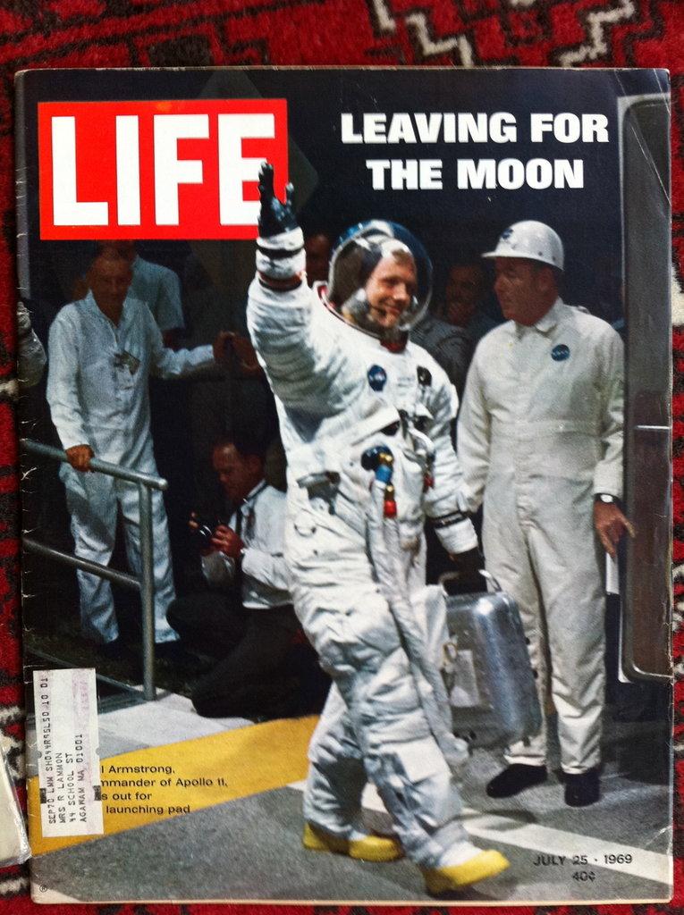 Magazine LIFE, ANNO1969 , L'UOMO SULLA LUNA