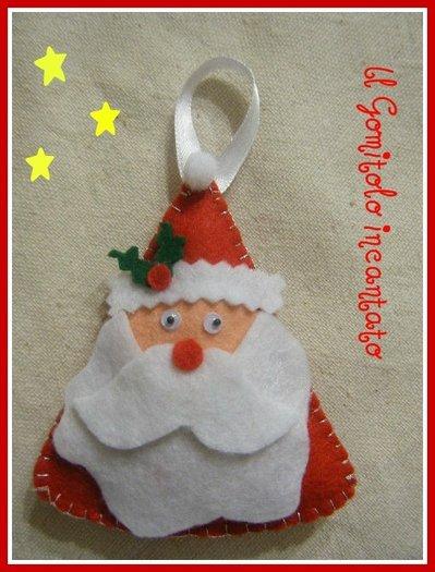 Natale: Santa Claus in pannolenci
