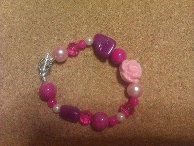 Bracciale rosa-fucsia