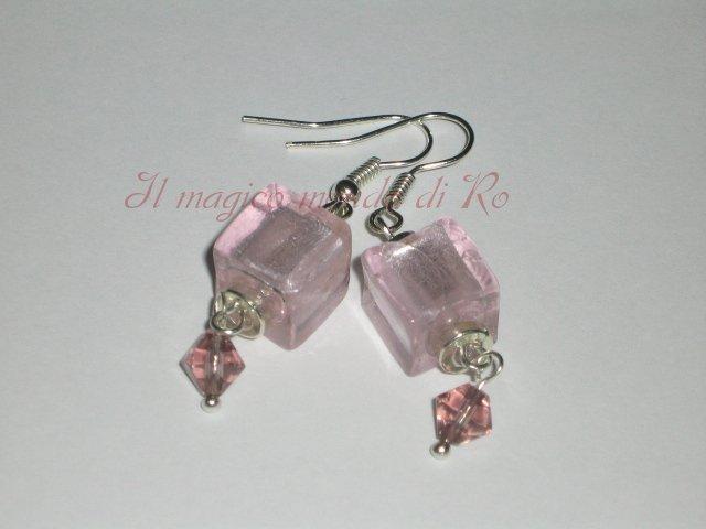 Orecchini Pink Cubes