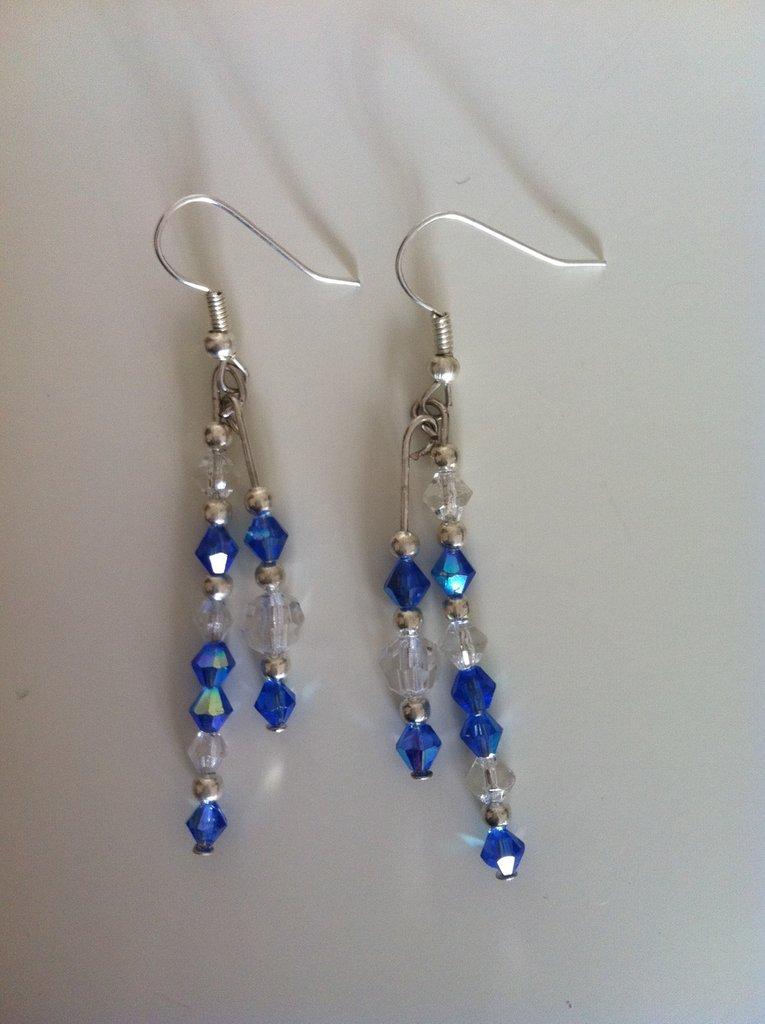 orecchini swarovski blu
