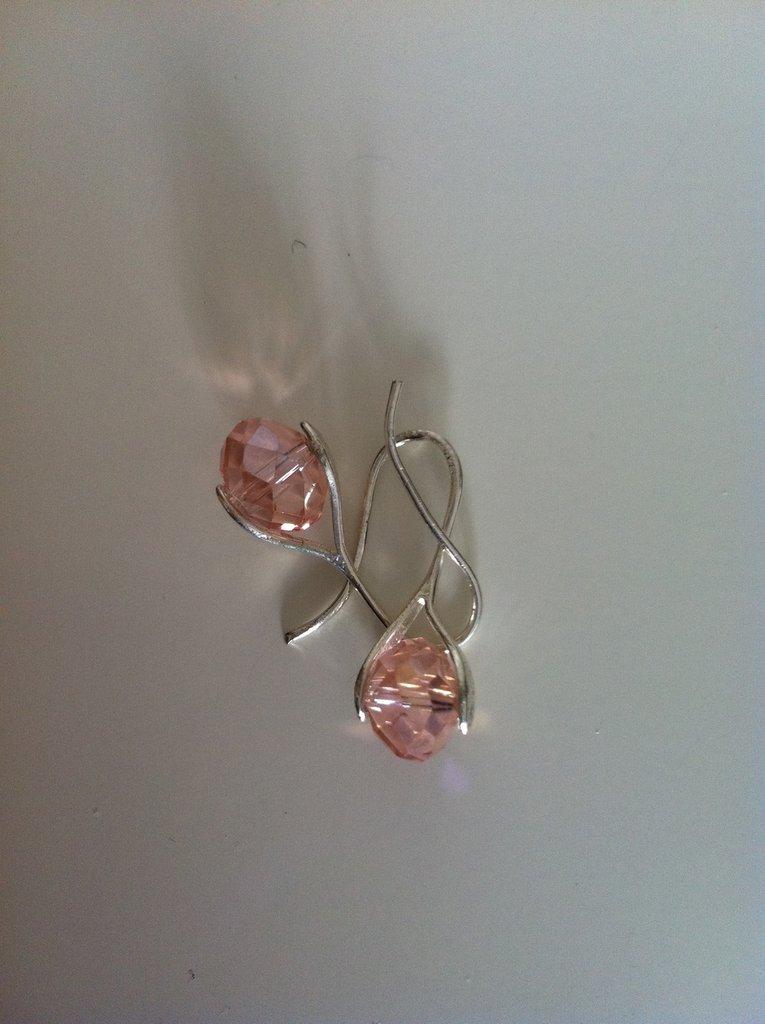 orecchini con swarovski rosa
