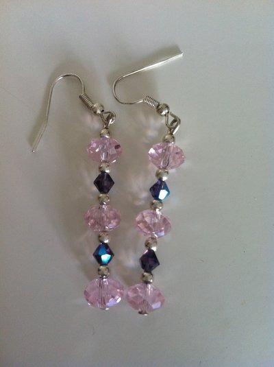 orecchini swarovski rosa