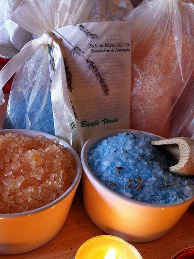 Sali da Bagno con Oli Essenziali di Lavanda, 100% NATURALE. Min. 500 gr.