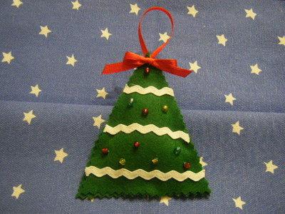 Natale: alberello in pannolenci