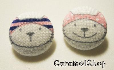 bottoni stoffa gatto