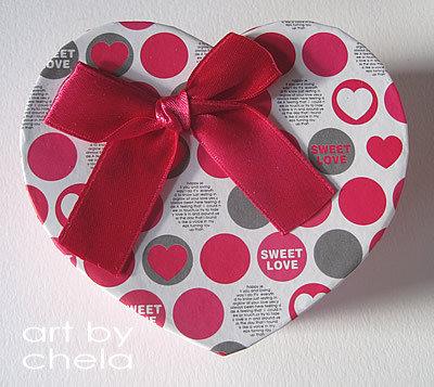 Caja corazon para packaging