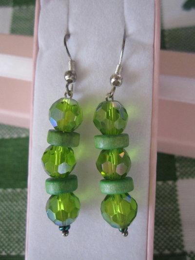 orecchini bigiotteria verdi