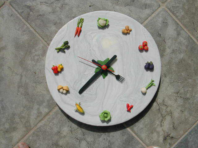 Orologio da parete con verdure