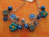 bracciale primavera azzurra