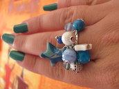 Anello stella blu