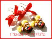 Orecchini Natale Fufufriends Classic RENNE RUDOLPH Idea regalo Fimo cernit moda