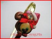 Cerchietto Natale Capelli accessori scoiattolo idea regalo kawaii