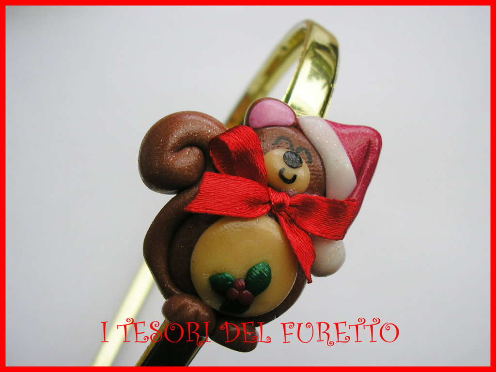 Cerchietto Natale Capelli accessori scoiattolo idea regalo kawaii