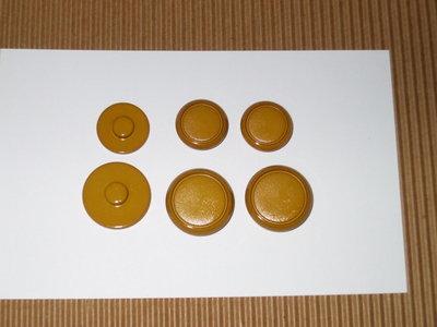 6 bottoni vintage senape