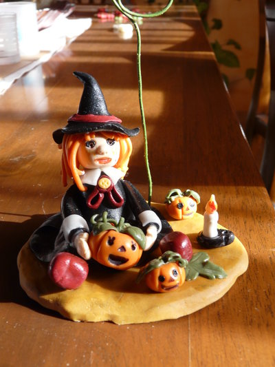 portafoto streghetta halloween