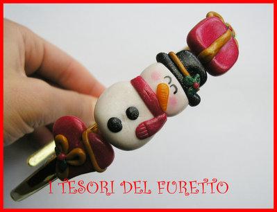 Cerchietto Natale Capelli accessori Pupazzo di neve dea regalo kawaii headband snowman
