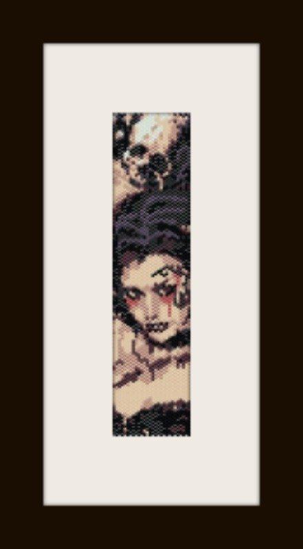 PDF schema bracciale dark girl in stitch peyote pattern - solo per uso personale .