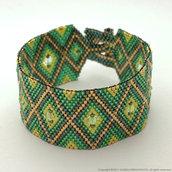 Peyote bracelet with swarovski bicones