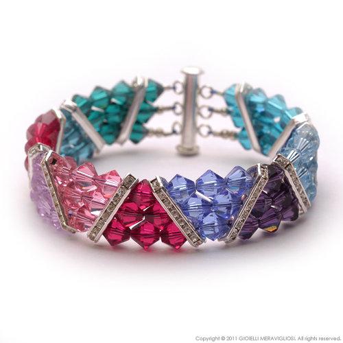 Swarovski spacer bar bracelet