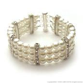 White swarovski pearls bracelet