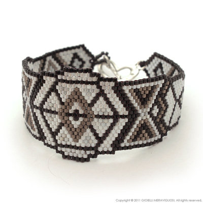 "Peyote bracelet ""Indian Style"""