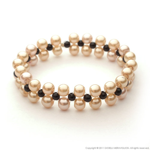 """Black pearls"" bracelet"