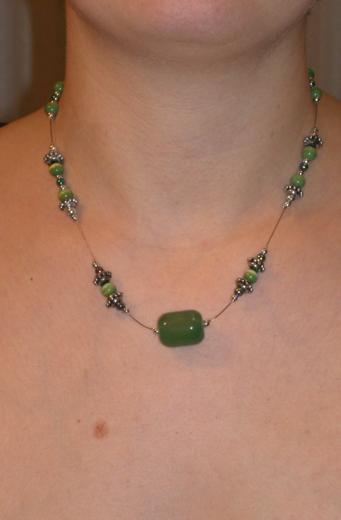 Collana green glass