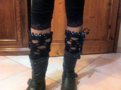 Scaldamuscoli moda traforati con nastro