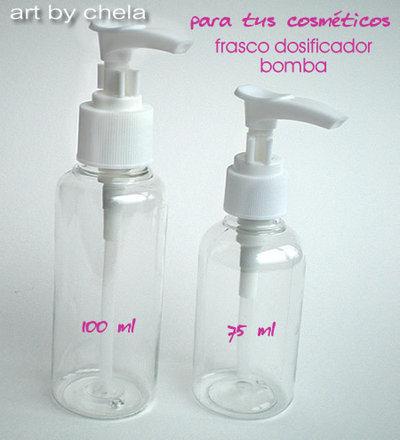 4 frascos dosificador de 100 ml y 75 ml