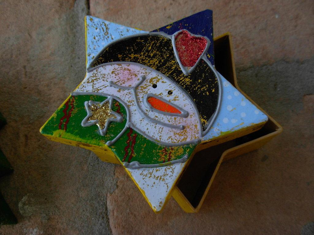 scatolina regalo natalizia forma stella