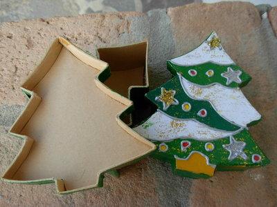 scatolina natalizia albero