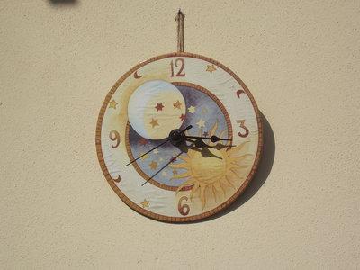 orologio da parete sole luna