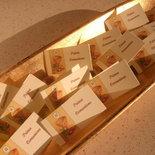 Bigliettini bomboniera porta confetti per battesimo, cresima, matrimonio, laurea  set 10 pezzi